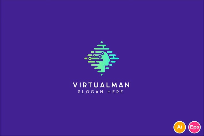 Thumbnail for Virtualman Technology Logo template