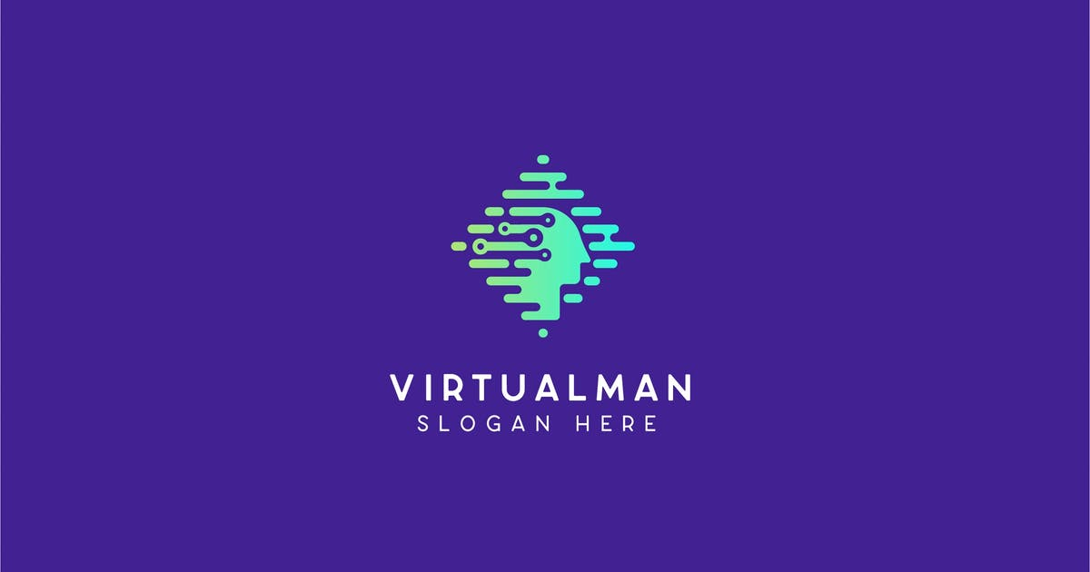 Download Virtualman Technology Logo Template by NEWFLIX