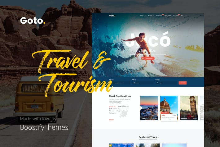 Thumbnail for Goto - Tour & Travel WordPress Theme