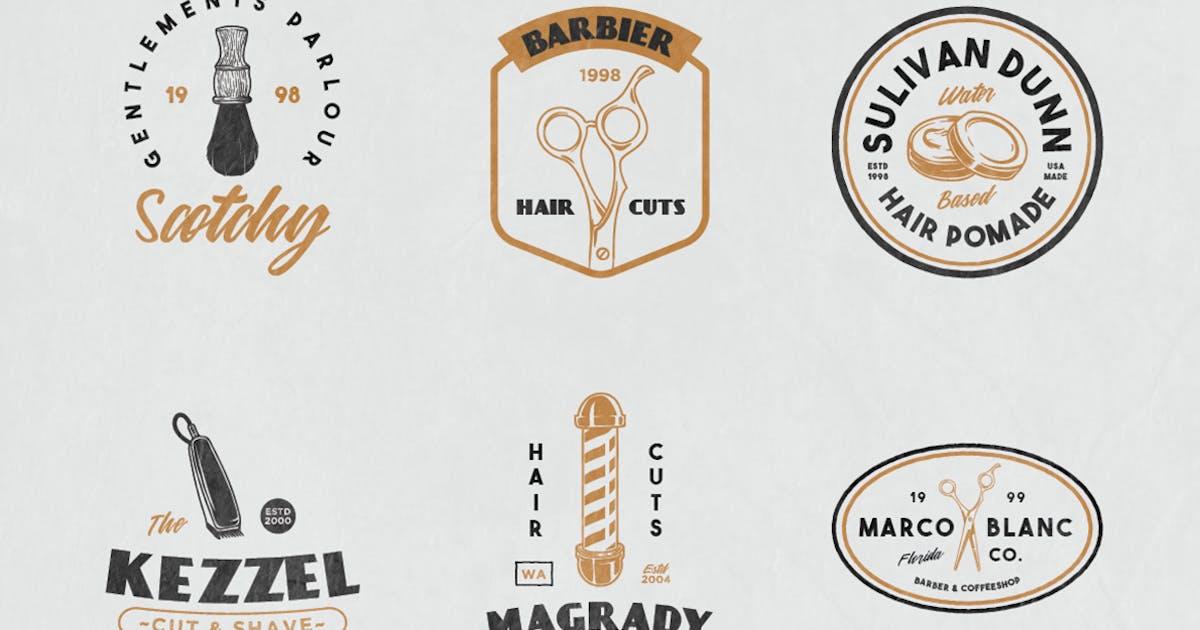 Download 12 Vintage Barber Shop Badge by bayurakhmadio