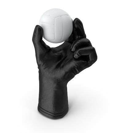 Перчатка с волейбольным мячом