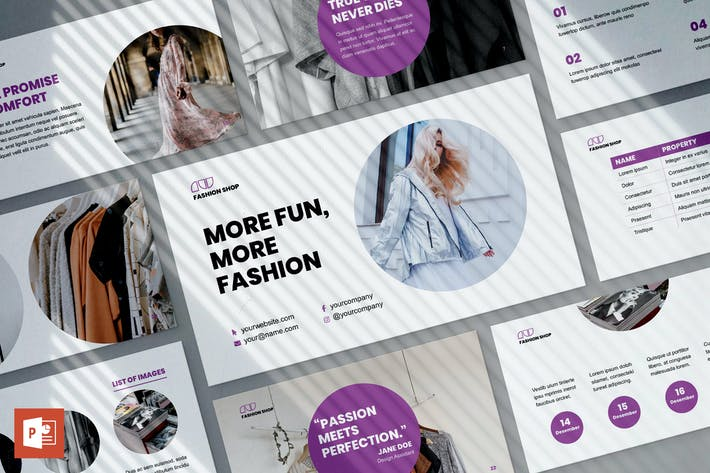 Thumbnail for Fashion Shop PowerPoint Presentation Template