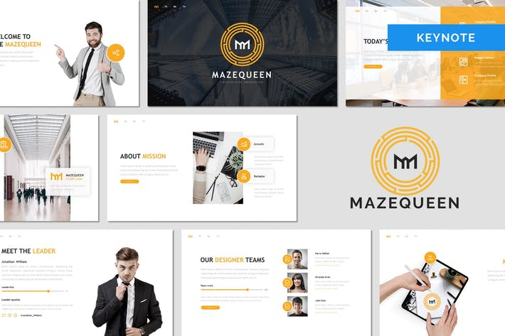 Thumbnail for Mazequeen - Business Keynote Template
