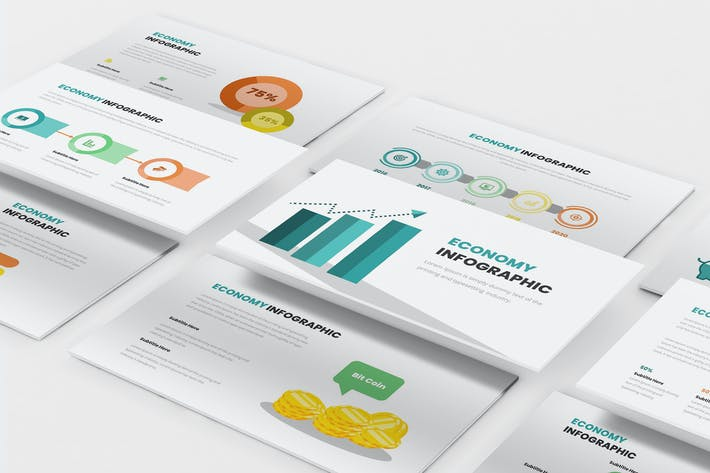 Thumbnail for Economy Infographic Powerpoint Template