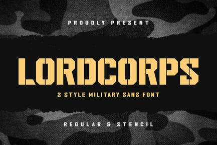 Lordcorps - Military Sans Font