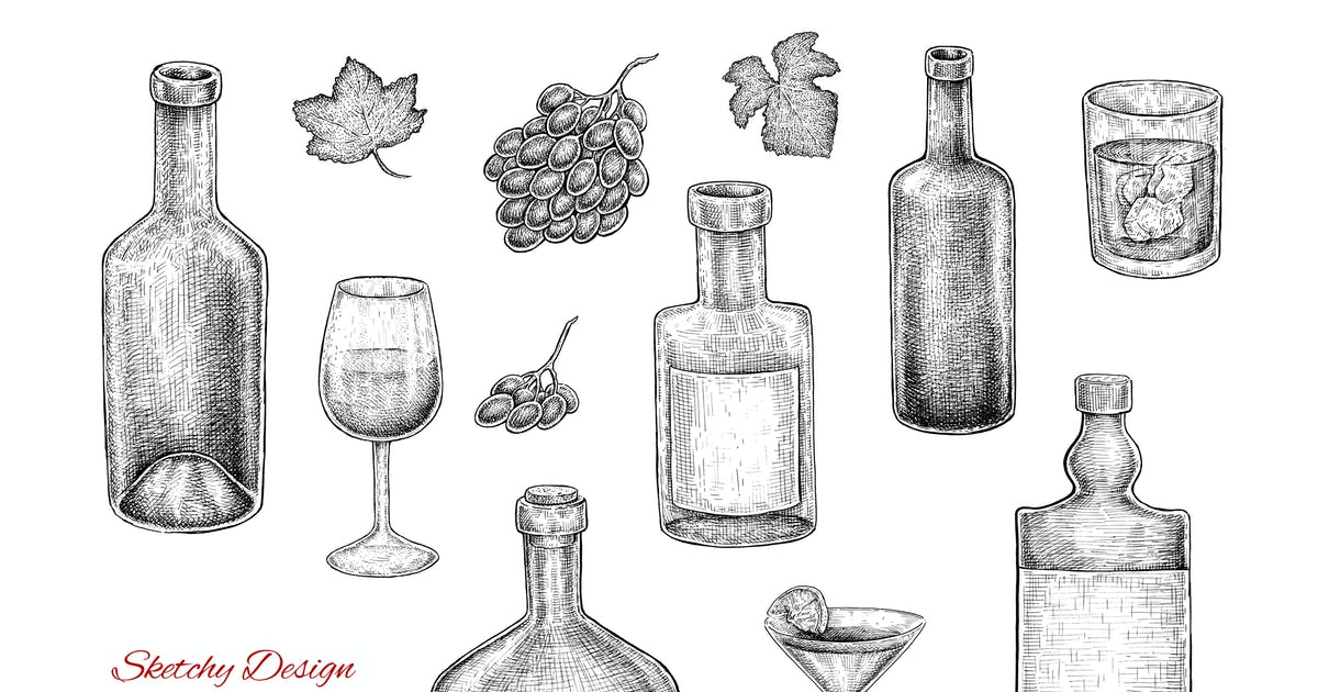 Download Bottles Set by EugeniaHauss