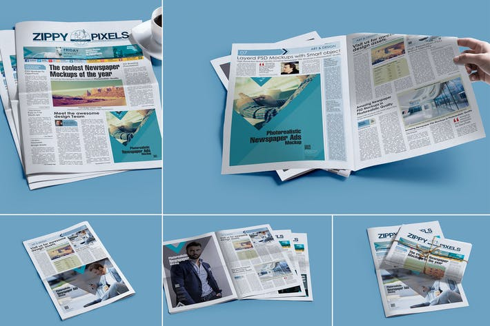 Thumbnail for Professional Newspaper PSD Mockups