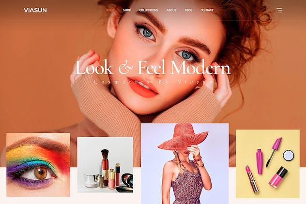 Viasun - Creative Cosmetic Store PSD