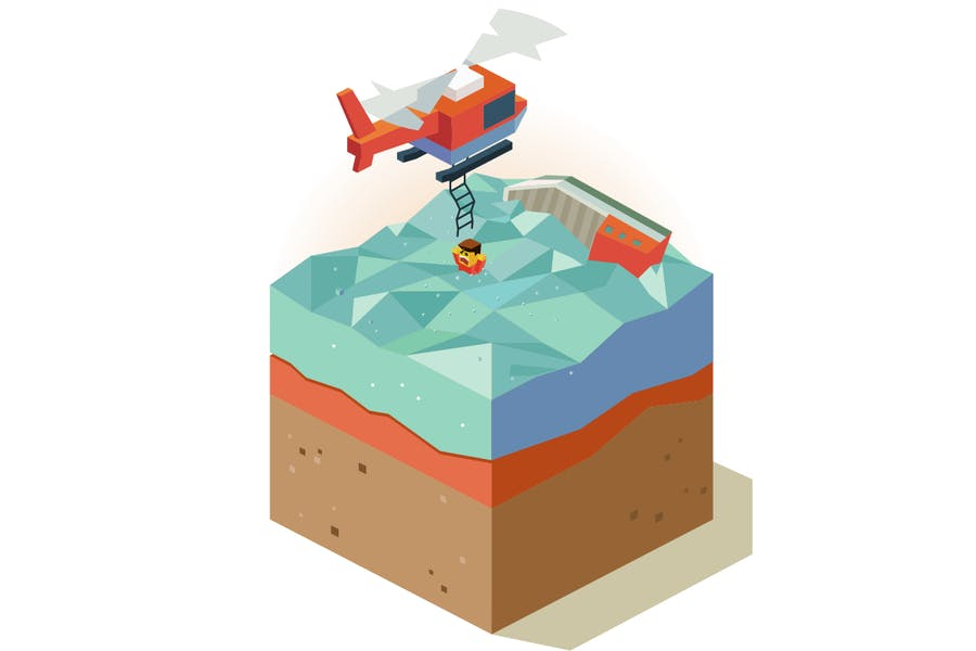 Lifeguard on sinking ship