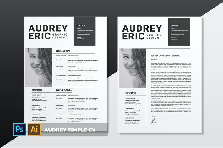 Thumbnail for Audrey Simple | CV & Resume