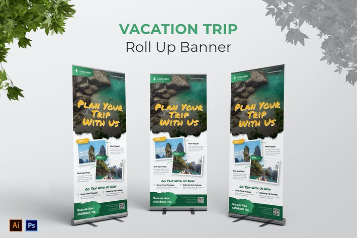 Thumbnail for Vacation Trip Roll Up Banner