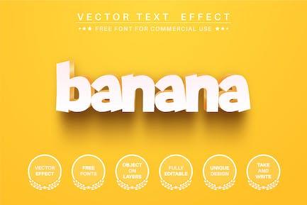 Yellow banana - editable text effect,  font style.