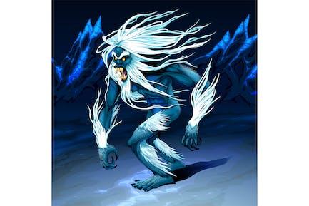 Yeti geht in der Nacht