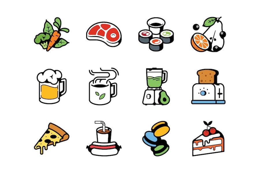 Lebensmittel- und Getränke-Symbole