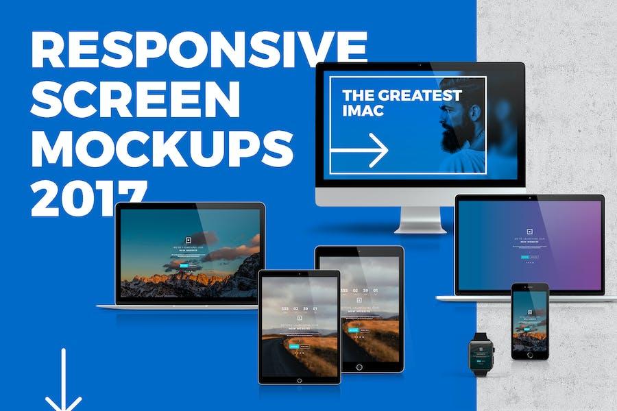 Responsive Screen Mockup 2017