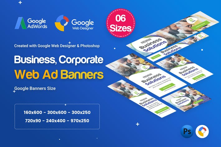 Thumbnail for Business, Corporate Banners HTML5 D26 - GWD