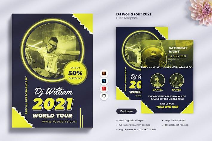 Thumbnail for DJ World Tour Party 2021 Flyer