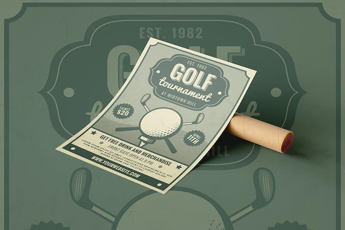 Thumbnail for Retro Golf Tournament - Flyer Poster
