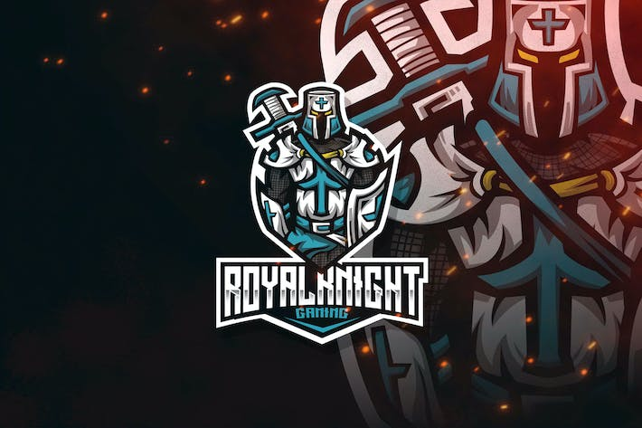 Cover Image For Royal Knight Esport Logo Template