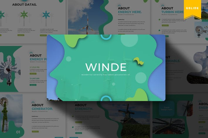 Thumbnail for Winde | Google Slides Template