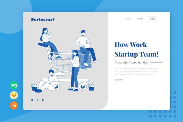 Collaboration Team - Website Header - Illustration