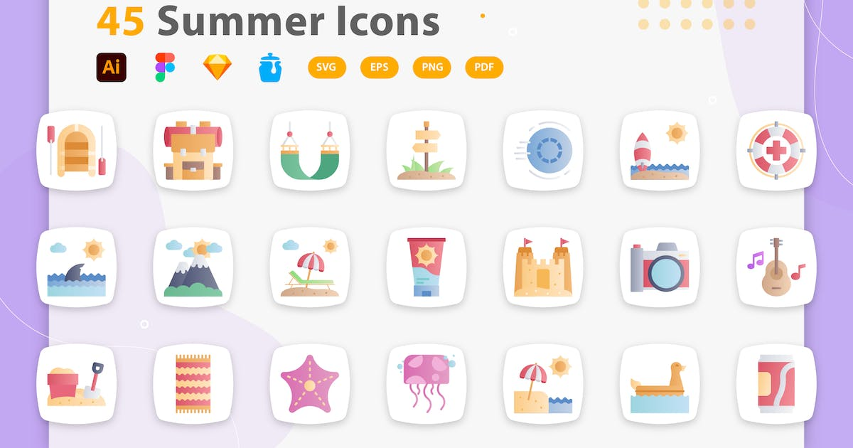 Download Chloe - Summer Icons by kerismaker
