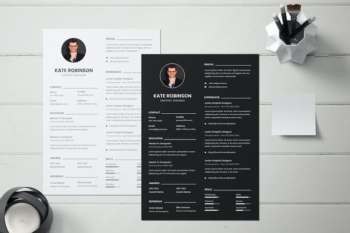 Creative Resume Template, CV Template