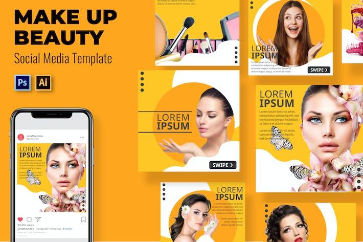 Machen Schönheit Social-Media-Vorlage