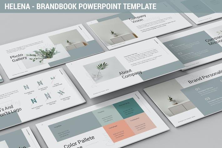 Thumbnail for Helena - Brandbook Powerpoint Template