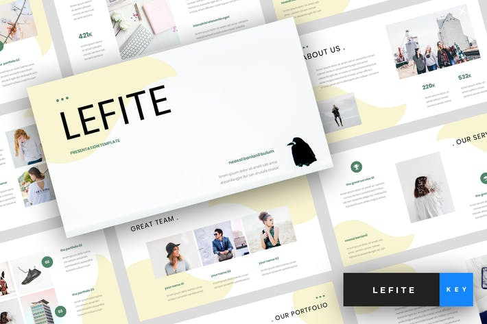 Thumbnail for Lefite - Magazine Keynote Template