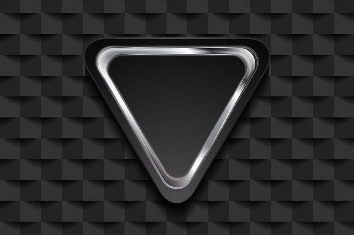 Thumbnail for Silver triangle on black tech mosaic background