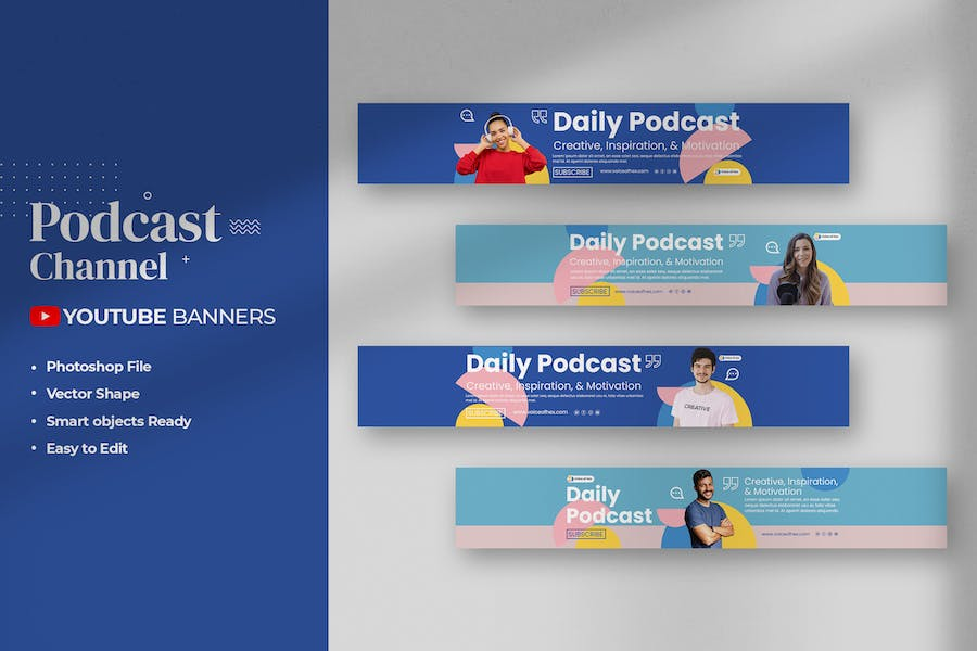 Podcast - Youtube Banners