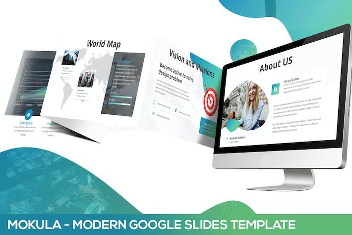 Thumbnail for Mokula - Modern Abstract Google Slides Template