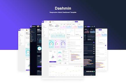Dashmin | Адаптивный шаблон панели управления администратором