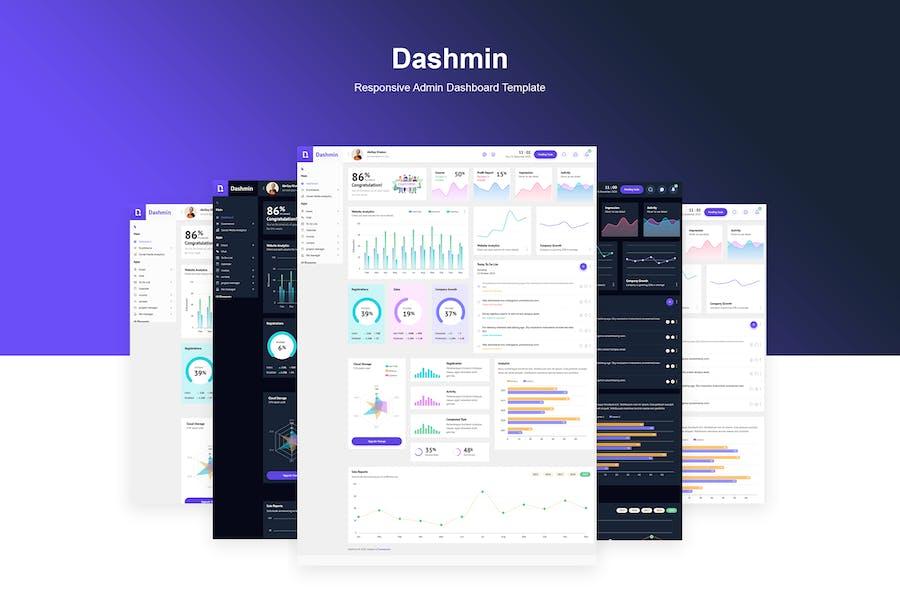 Dashmin | Responsive Admin Dashboard Template