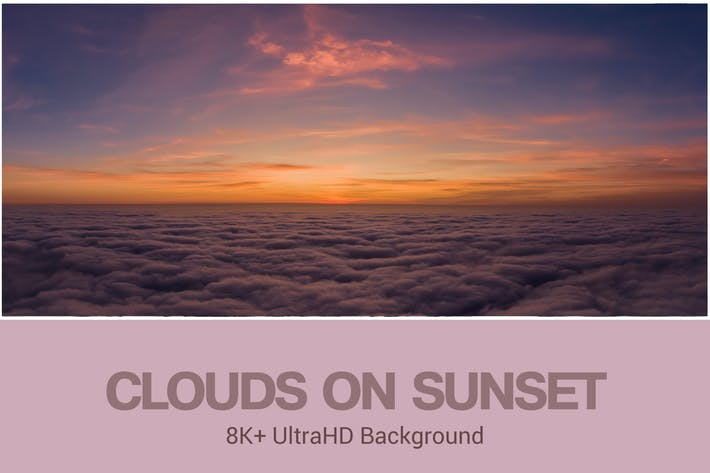 Thumbnail for 8K UltraHD Clouds on Sunset Background