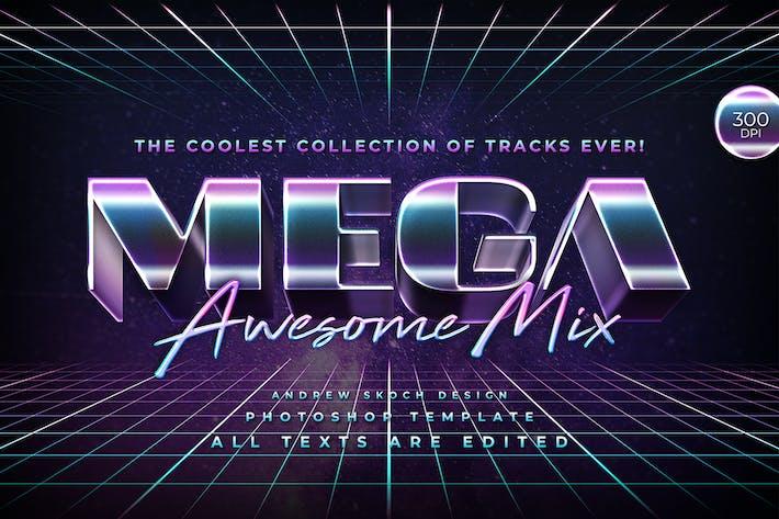 Mega - 80s Retro Text Effect