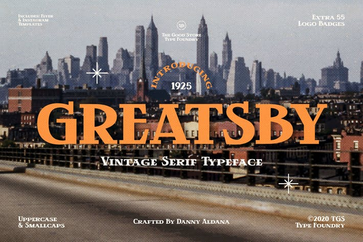 Thumbnail for Greatsby Typeface