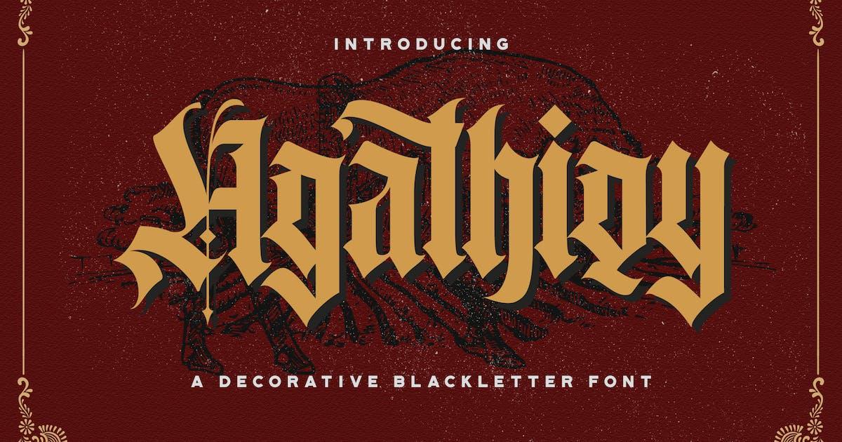 Download Agathiqy - Blackletter Font by StringLabs