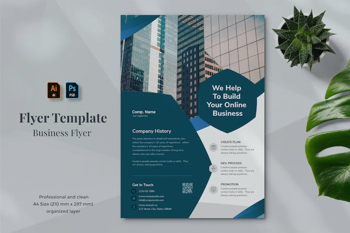 Thumbnail for Business Flyer Template 1.9