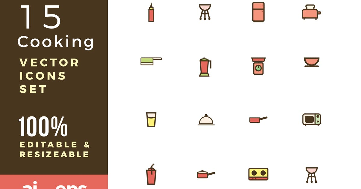 Download 15 Cooking vector icons by yip87