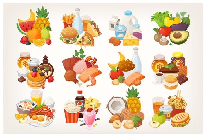 Thumbnail for Vector food categories