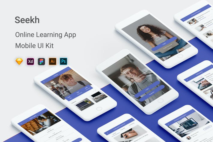Cover Image For Seekh - Online Learning UI Kit