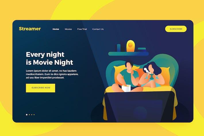 Thumbnail for Movie Stream Vector Illustration