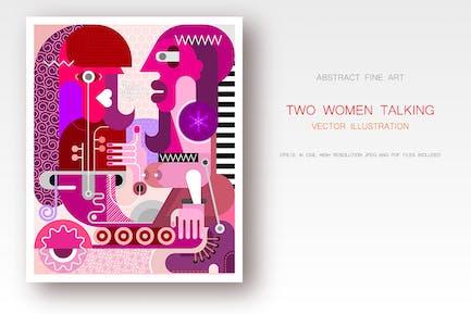 Talk vector illustration