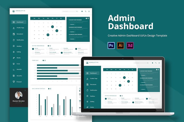 Thumbnail for Analytic Admin Page Template