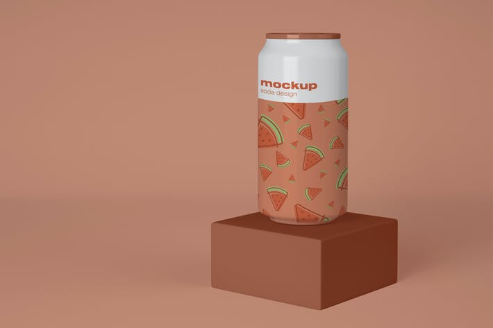 Thumbnail for Mockup de canettes de soda