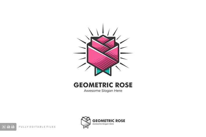 Thumbnail for Rose Modern Vintage Style Logo Template