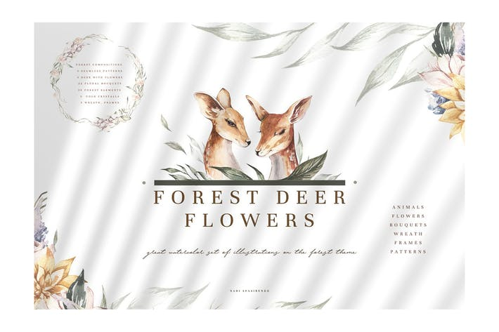 Thumbnail for Forest Deer & Flowers