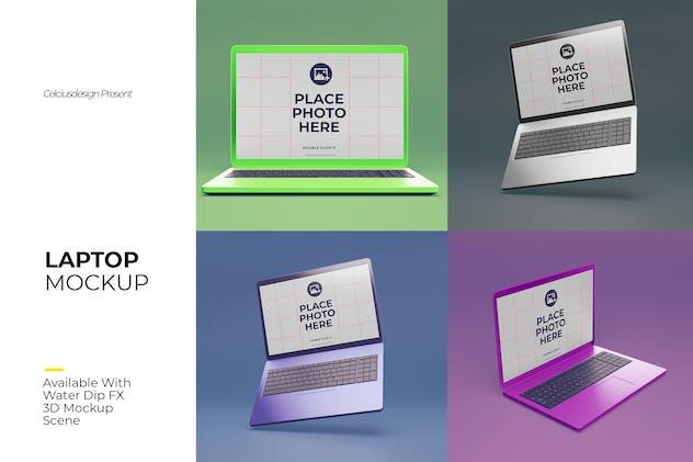 3D Laptop Mock Up Pack